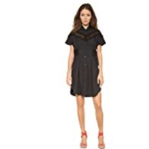 Sea NY Lace Accented  Shirt Dress - New with Tags